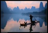Li River Cormorant Fisherman at Twilight