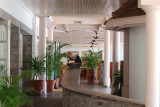 The outside lobby area of the Norfolk Hotel - renovations were tastefully done last year!