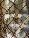 fence, poll, rust, light