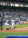 Derek Jeter adjusts his batting helment