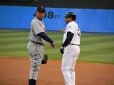 Cabrera and Abreu at first base