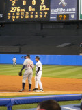 Cabrera holds Damon on at first after single to right