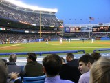 The view from row D opposite home plate