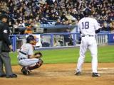 Johnny Damon steps into the batter's box