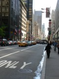 5th Avenue looking downtown: Rolex store on the left