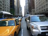 Traffic at light on 6th Avenue