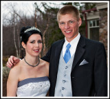 Robyn and a Groomsman