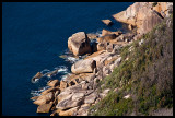 Granite outcrops from southeast coast track