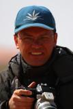 Frédéric after shooting at the Desert Warbler
