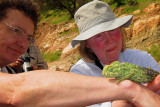Cris and Jane with a Chameleon