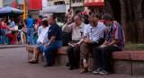 Men sitting II