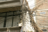 Beehive of electrical infrastructure in Kathmandu