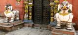 Guarding the temple door near Durbar.