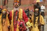 Hindu Holy Men at Durbar Square in Kathmandu