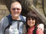 Jan and Tom in Bhaktapur.
