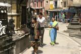 Kathmandu street scene.