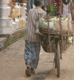 Produce delivery by bicycle in Kathmandu
