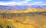 Zabriskie Point  in dappled light, Death Valley National Park, CA