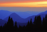 (PNW13) Tatoosh Range at Sunset, WA