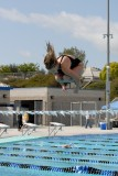 Competitor in a High School Diving Meet