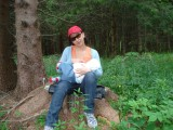 breast feeding in the nature