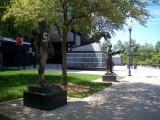 Bank of America Stadium - Sam Mills statue