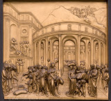 Ghiberti's bronze panels, baptistry east side
