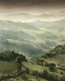The Appennines, from Urbino, Italy