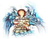 Angel window, Malmesbury(stylized)