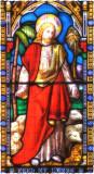 Church window, Uley