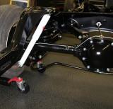 Rear suspension passenger side.