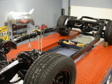 Completed rolling A-body chassis 1