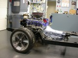 Rebuilt powertrain in rolling chassis
