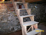 Temporary Stairs to Basement