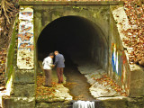 Vine Creek culverts - under the Cynwyd Trail and to the Schuylkill