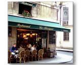 a restaurant in the marais
