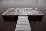 Sea Drift dock in B&W