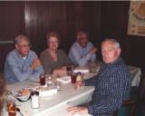 Jerry and Barbara Luton Brewer, first timer Steve Davis ('62) & Gary Sharp.