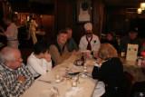 L-R Richard ('60 ) & Gail Phillips, Danny Adair, Pat Kirwan, Chef Boyarengelberg & Ida.