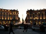 Piazza in twilight