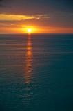 Sunset - the golden road