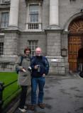 Stewart and Barbara,at Trinity College Dublin (TCD)