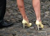 Shoes on the cobblestones