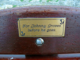 Dedication on the seat