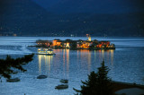 Isola Pescatori at night