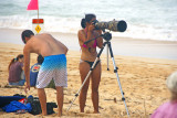 Shooting the surf at Ehukai, Banzai Pipeline