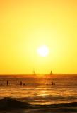 Waikiki Setting Sun
