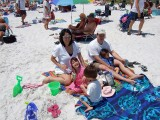 Soaking up some sun at Ft Myers Beach