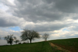 stormy weather on the hill.
