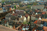 Strasbourg view from the top of the Cathedral.